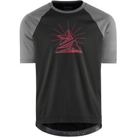Zimtstern PureFlowz Camicia a maniche corte Uomo, nero/grigio